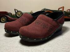 338-)Sanita Danish Clogs Original Brown /red Leather Women's Sz 10/41