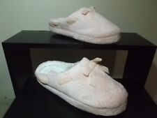 Ladies Pink Gold Toe Slippers w Memory Foam and Indoor Outdoor Sole Size 6m