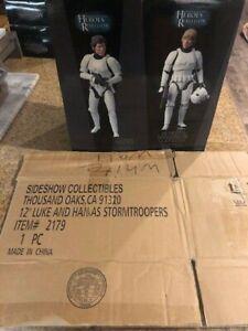 Sideshow Star Wars Heroes Of The Rebellion Luke &Han Stormtrooper Disguise