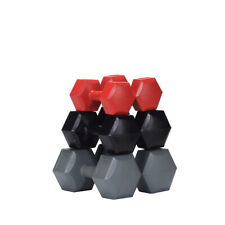 MuscleSquad 24kg Hex Dumbbell Set includes 3 pairs of 2 4 6kg