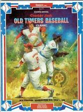 CRACKER JACK OLD TIMERS GAME ~ 1985 Program ~ Maris, Aaron, Feller cover