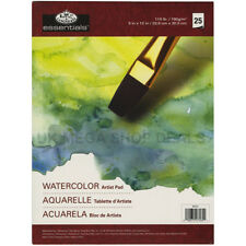 "ROYAL & LANGNICKEL ESSENTIAL Watercolour Artist Pads 25 SHEETS 9""x12"""