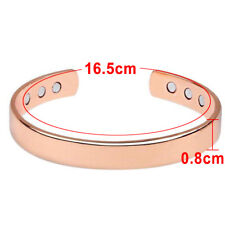 Rose Gold Copper Bracelet Unisex Therapy Healing Magnetic Arthritis Pain Heal