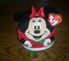 Ty~ Minnie~ Mrs Claus~ Beanie Babies Ballz ~Christmas Plush