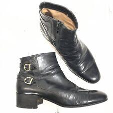 Vintage Star Artioli Black Ankle Boots Mens Size 7