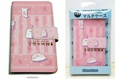 Kuusou Suizokukan Book-Style Multi-Purpose Case Pink Android iPhone Cute Animals