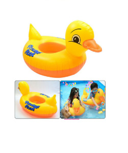 Quacker Duck Inflatable Pool Swimming Ring Floating Baby Kids Seat Beach Boat