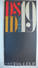 Prospekt/brochure Citroen DS 19 / ID 19 / Break Hydraulique, ca.1961, 32 Seiten