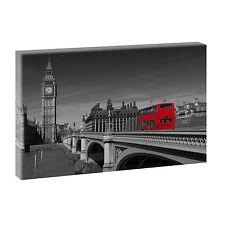 London Big Ben sw  -Bilder Keilrahmen  Poster Leinwand XXL 100 cm*65 cm 486