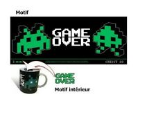 Tasse Game over mug céramique gaming retro dans boite game over mug