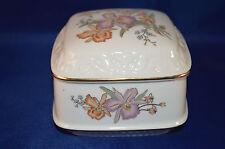 Heritage House Celebration of love Porcelain Trinket Music Floral Hummingbird Aa