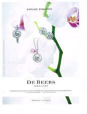PUBLICITE ADVERTISING  2011   DE BEERS  joaillier