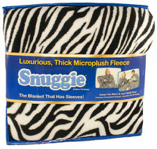 Snuggie Wearable Blanket Fleece Zebra Fantasy Throw Blanket With Sleeves NEW