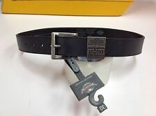 "Harley-Davidson Women's Black Belt & Buckle XS  99528-11Vm 30"" inches 71cm"