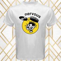 Nervous Records Music Production House Logo Men's White T-Shirt Size S - 3XL