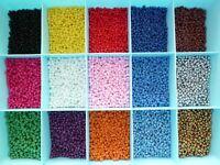 40 grammes (~ 500 perles) perles rocailles 4 mm 15 couleurs