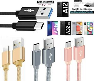 for Samsung A12 A21s A32 A42 A52 Type C Phone Charging Cable Fast Charger Lead