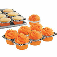 Skull Disposable Paper Bake and Serve Cupcake Tray from Wilton #1739 - NEW