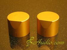 New listing 2 pcs 34mmD x 31mmL Gold Color Solid Aluminum Knobs for Audio Equipment Diy