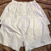 Stafford Mens 100% Cotton Woven Boxers White Breathable Size XL 40-42 New