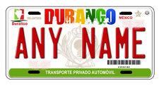 Durango Mexico Auto Novelty License Plate Placas Auto