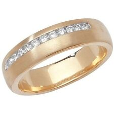 Unbranded Band Diamond Yellow Gold Fine Rings