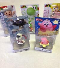 Nintendo amiibo Toad Yoshi Peach R.O.B and Kirby 5 Figure Set / Lot New In Box