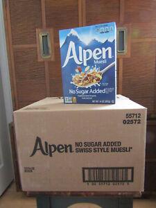 Alpen-Alpen Muesli Cereal No Sugar Added, CASE of 12 ( 14 oz boxes ) Exp 4/17/21