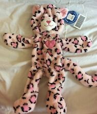 NEW UNSTUFFED Build a Bear Pawfect Pink Leopard Heart Nose, Pink Appliqued Heart
