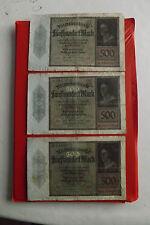*Reichbanknoten- 3 x 500 Mark 1922  *(ORD 2)
