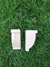 Small Wooden Corbels (Shelf Brackets) solid pine style N (1 pair)