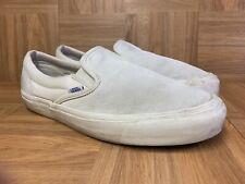 RARE🔥 VANS x Originals Slip On Sz 10 Bone Suede Skateboarding Shoes Men's