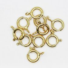 """Spring Ring Clasp 1/4"""" (6mm) 14kt Gold Filled Pack of 10"""