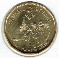 2010 Canadian Commemorative Brilliant Uncirculated Navy $1 Coin!