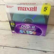 Maxell DVD+R Sparklers 5 Pack  4.7GB