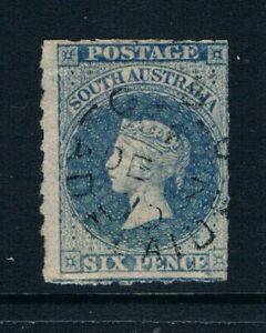 Sur Australia - 1858-6d Qv - Ruleteados - Pizarra Azul - Sc 12 [ Sg 17] Usado A7
