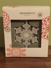 Wedgwood Gray Snowflake Porcelain Christmas Ornament Decoration Lovely Boxed