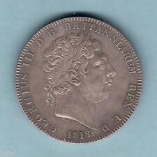 Great Britain.   1818 LVIII - George 111 Crown..  aUNC - Some Lustre