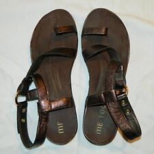 Me Too Copper Leather Strappy Sandals - Nordstrom - Women's Size 9 - COMFY