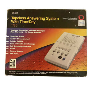 Vintage New AT&T Digital Answering System 1720 Tapeless Answering Machine