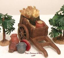 """Fontanini Italy 5"""" Harvest Cart 2Pc 2001 Nativity Village Accessory 65033 Gcib"""