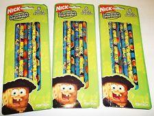 Spongebob Squarepants & Friends #2 Pencils (3 PACKS) 18 Pencils *Pentech* NIP