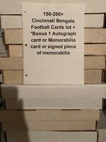 150-200 Cincinnati Bengals Football Cards Collection Lot +1 Autograph/ Relic