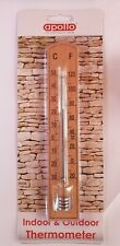 Beech Wooden  Wall mounting Thermometer  Indoor Outdoor Patio Shed Greenhouse