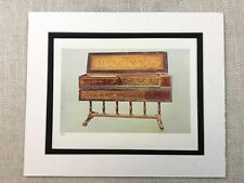 1888 Music Print Virginal Harpsichord Old Musical Instruments Antique Original