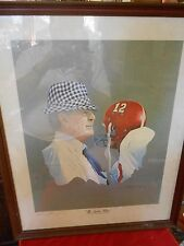 "Very ""Rare"" ALABAMA CRIMSON TIDE Print ""The Game Plan""..by  W.C.Morris"