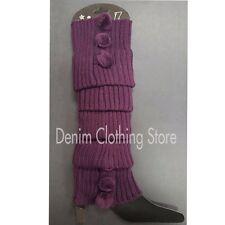 Women Leg Warmers Knee High Knit Crochet Leggings Boot Socks Slouch Warm Winter