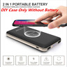 10000mAh Qi Wireless Power Bank Fast Charging USB LED Portable Battery Charger