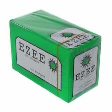Ezee Green Rolling Paper Cigarette Standard Size Cut Corner 100Booklets *NEW BOX