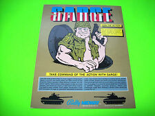 Bally Midway SARGE 1985 Original Video Arcade Game Promo Sales Flyer Advertising